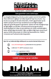 LA Crime Stoppers Turkish information