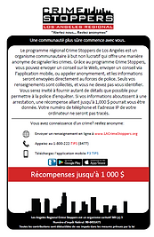 LA Crime Stoppers French information