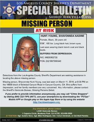 AT RISK- MISSING PERSON