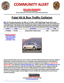 Hit and Run Alert