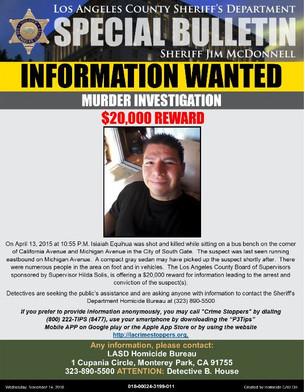 INFORMATION WANTED: MURDER INVESTIGATION