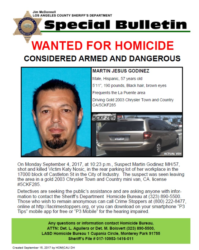 Wanted for Homicide: Martin Jesus Godinez
