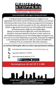 LA Crime Stoppers Portuguese information