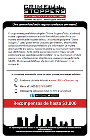 LA Crime Stoppers Spanish information