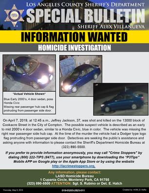 INFORMATION WANTED- HOMICIDE INVESTIGATION