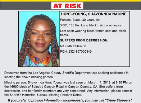 At Risk Missing Person