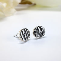 small silver earrings handmade in usa