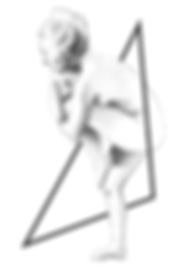 Spectacle Modèle Vivant, Compagnie Fractale, Spectacle en musée, illustration Charlie Baudeigne