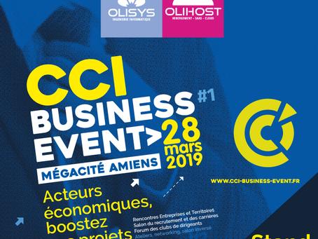 Retrouvez l'équipe TPE/PME #MaSolutionIT au CCI Business Event à AMIENS le 28 Mars 2019