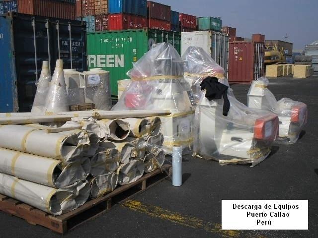Recibo equipos puerto Callao Peru