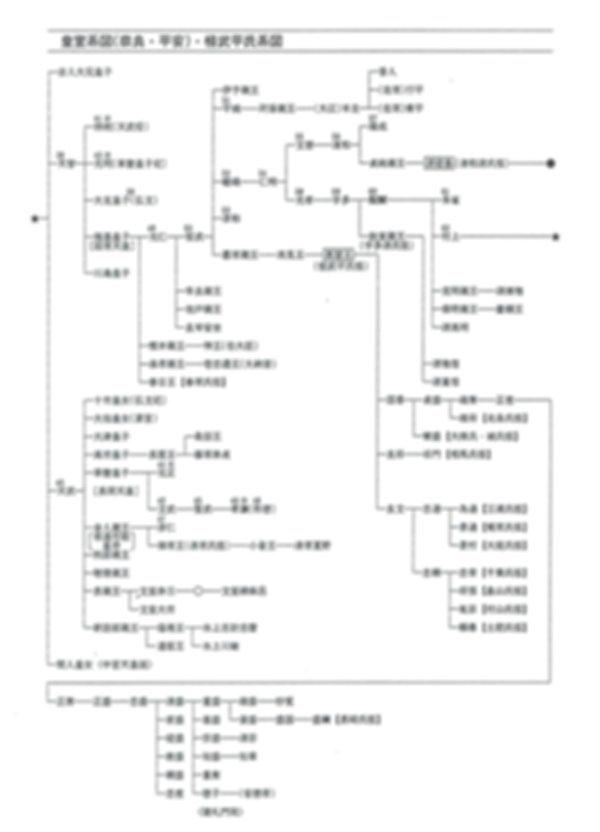 5皇室系図(奈良・平安)桓武平氏系図