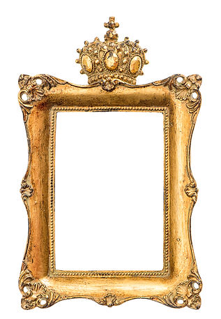 Baroque Golden Picture Frame Isolated On