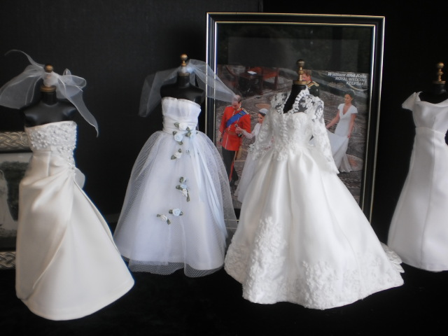 Collection of miniature gowns