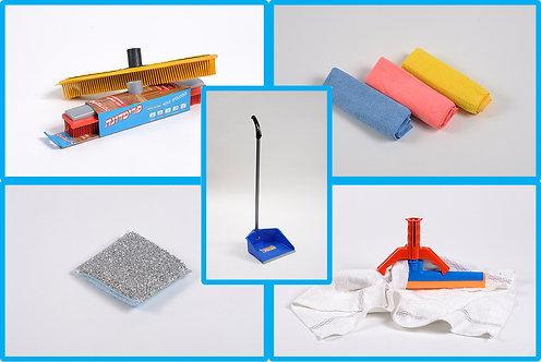 """חבילת """"אלפא""""  10 סוגי פריטים לנקיון הבית"""
