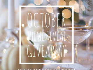 October Theme Reveal GIVEAWAY + September Shipping Update