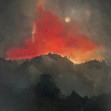 Scenes of the 2020 West coast Wildfires; Ridge near Bonney Lake