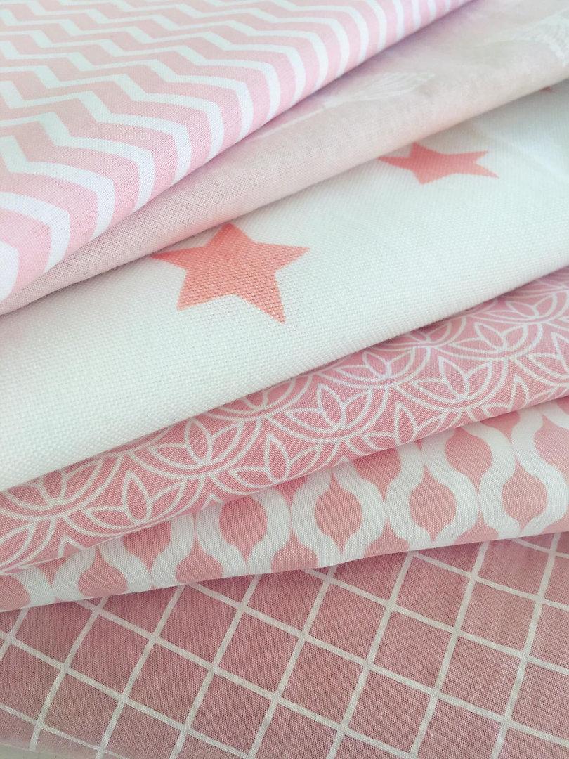 Stoffoptionen rosa/weiß