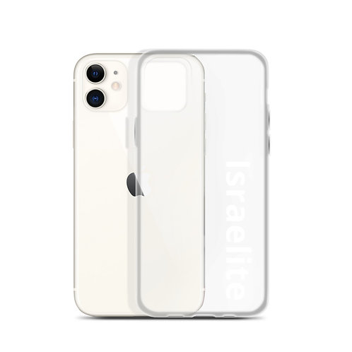 """Israelite"" iPhone Case Clear"