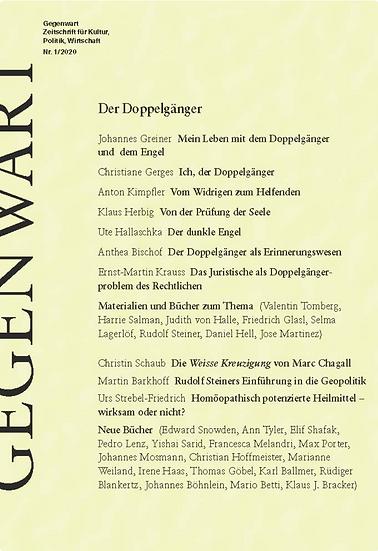Gegenwart, Zeitschrift für Kultur, Politik, Wirtschaft