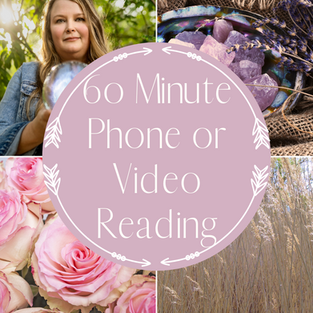 60 Minute Phone or Video Reading