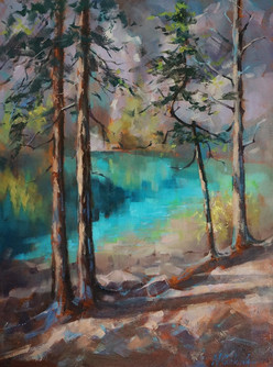 Grassi Lake, 18 x 24 inch, Oil on canvas