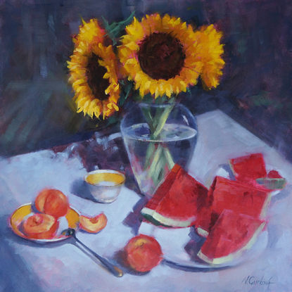 Summer red, 24 x 24 inch, oil on canvas