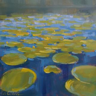 Waterlilies_Nadia Gurkova_oil on canvas_