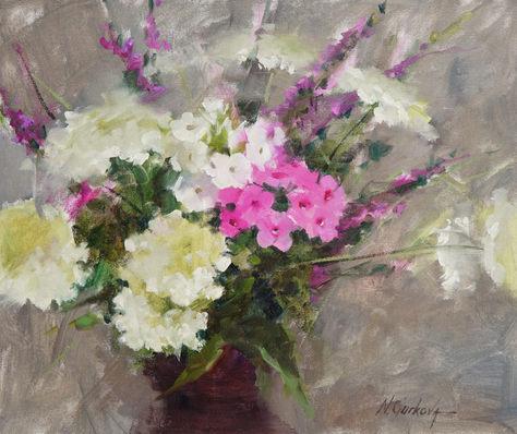 Wild flower study, 11 x 14 inch, oil on canvas