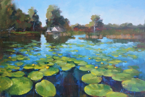 East Lake, 20 x 30 inch, oil on canvas
