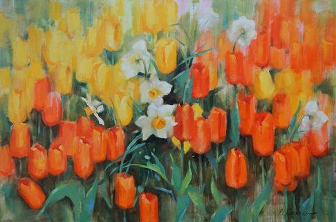 Spring joy-24-36-inch-oil-on-canvas-NAdi