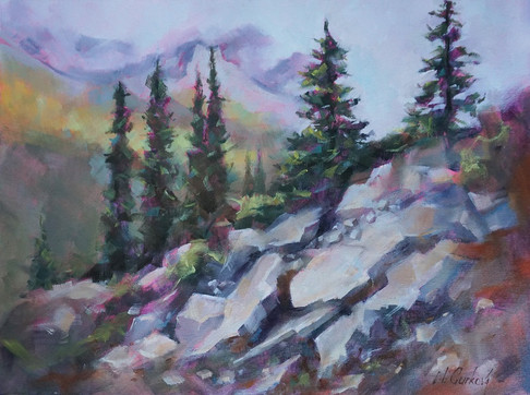 Rock pile, 18 x 24 inch, oil on canvas