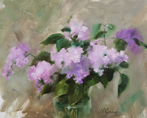 Lilac study, 16 x 20 inch, Oil on canvas