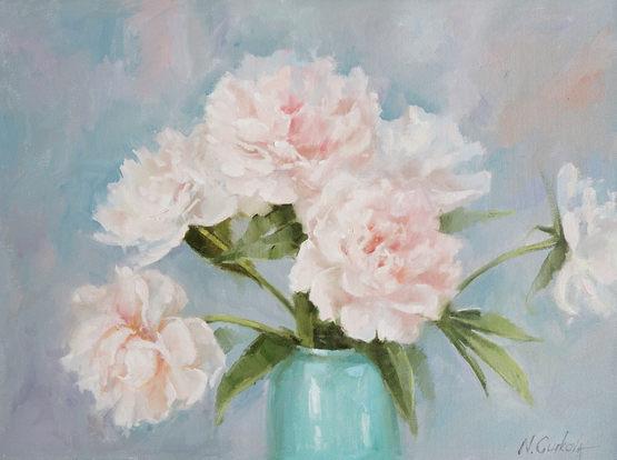Nadia Gurkova_Peonies in a green vase_18