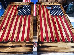 cornhole American flag