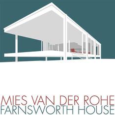 Farnsworth House Poster Illust