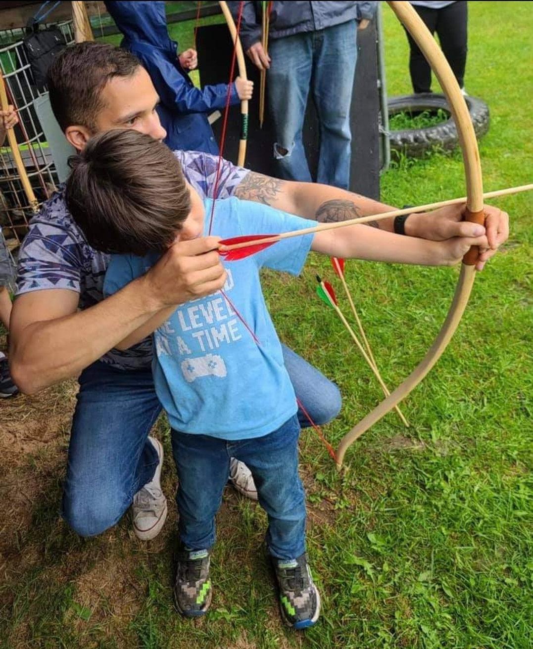 Children's bow building course 7 Aug