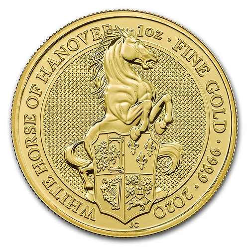 2020 Great Britain 1oz Gold Queen's Beasts The White Horse