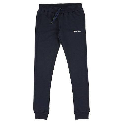 Silvermedal donkerblauwe joggingbroek voor meisjes voorzijde