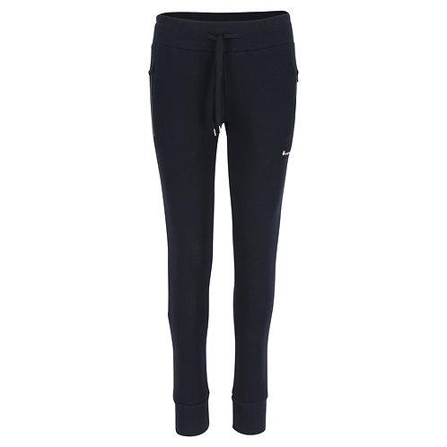 Silvermedal donkerblauwe slim fit damesjoggingbroek met aanpassende pijpen voorzijde