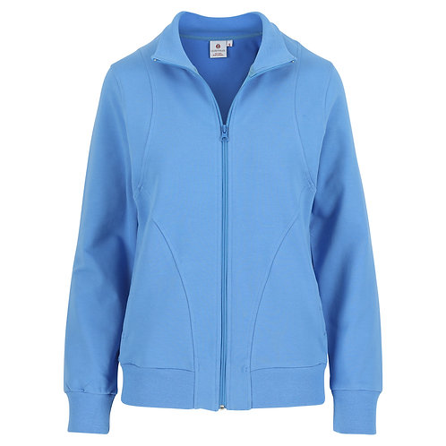 Silvermedal felblauwe joggingvest voor dames grote maten voorzijde