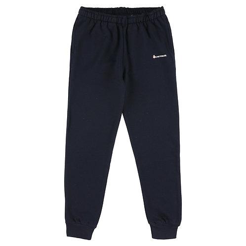 Silvermedal donkerblauwe slim fit jongensjoggingbroek met boordje onderaan voorzijde