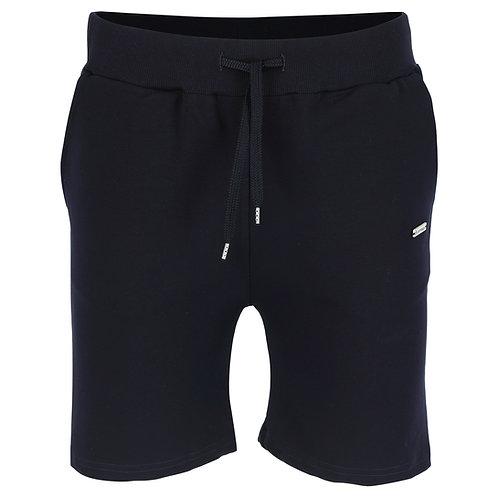 Silvermedal donkerblauwe sportieve sweat short voor heren voorzijde