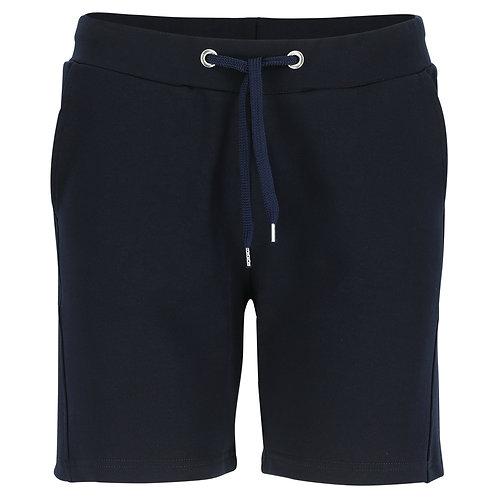 Silvermedal donkerblauwe stretch short voor dames langer model voorzijde