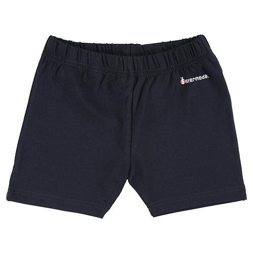 Silvermedal donkerblauwe stretch short voor meisjes om te turnen voorzijde