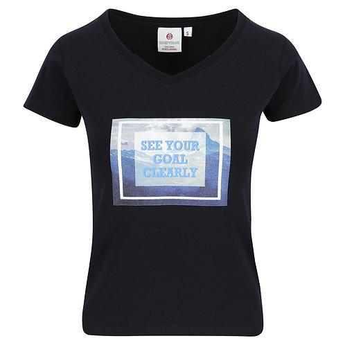 T-shirt dames - met print en V-hals
