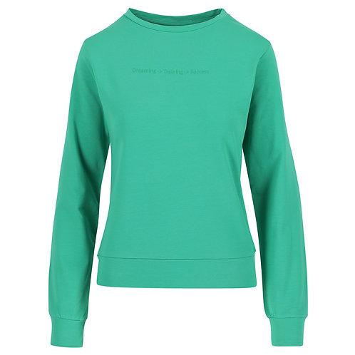 Sweater dames - Ronde Hals - Fijne print op borst