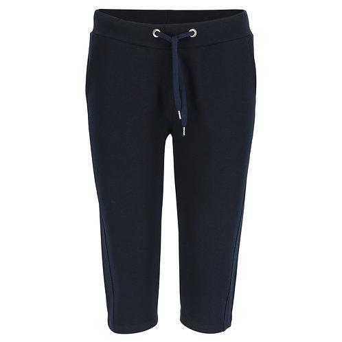 Silvermedal donkerblauwe sportieve driekwart capri broek voor dames voorzijde