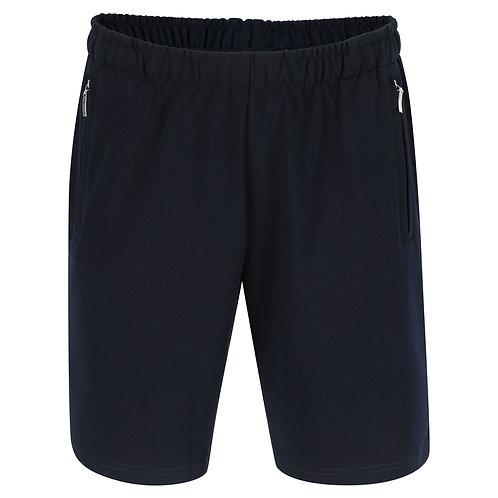 Silvermedal donkerblauwe sportieve stretch short voor heren voorzijde