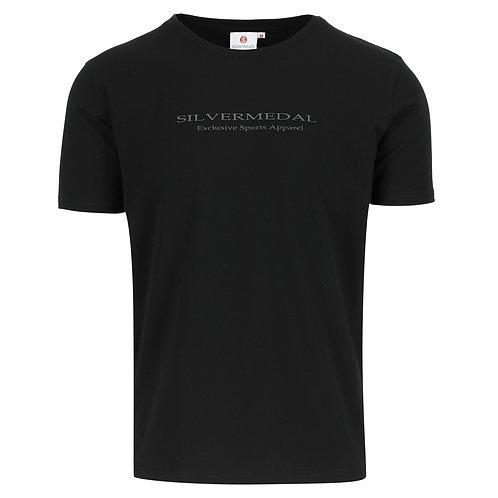 T-shirt heren - met fijne print - ronde hals