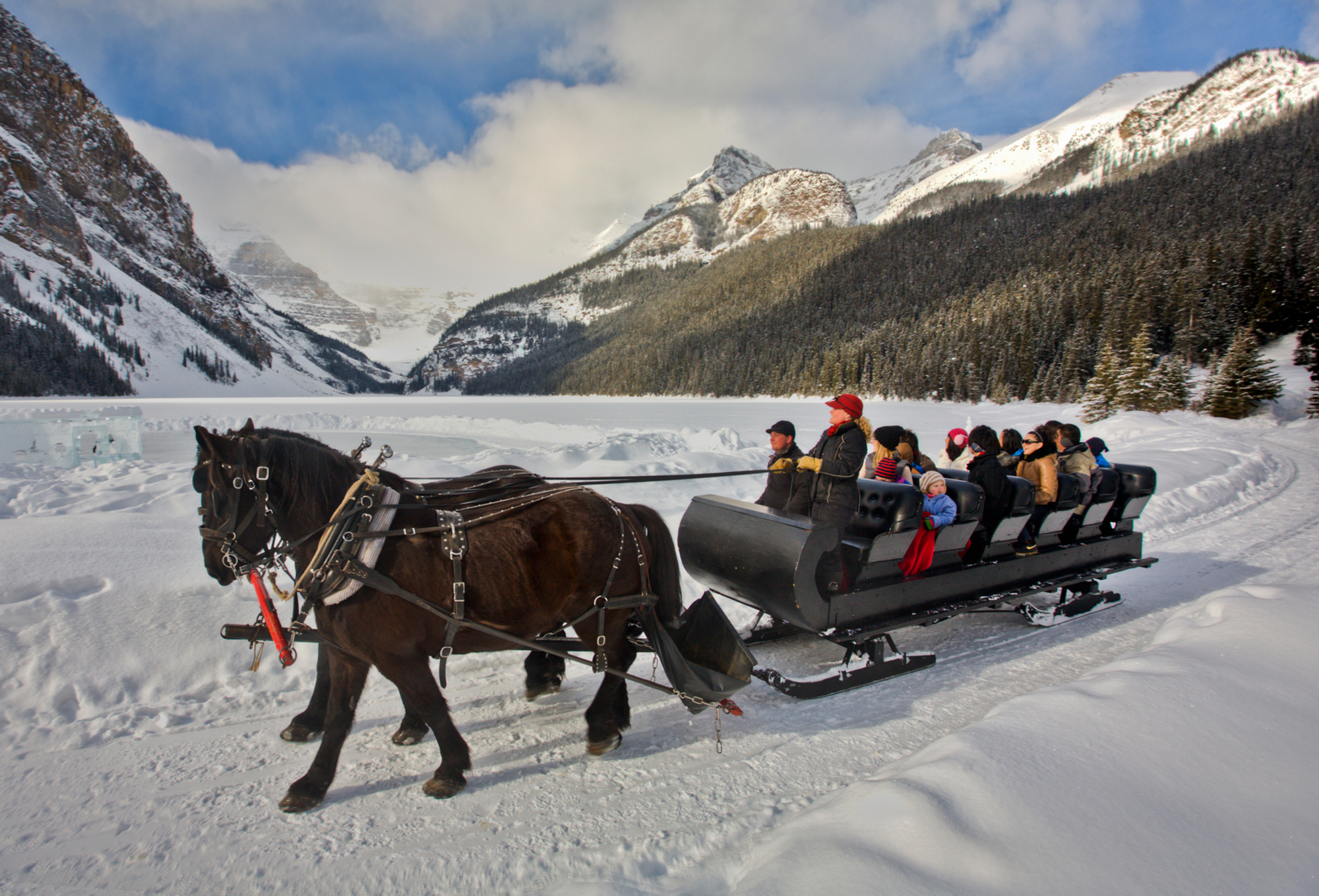 Sleigh Ride across Lake Louise